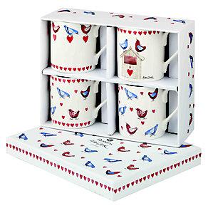 Alex Clark Love Birds Set of 4 China Mugs - Product number 2969165