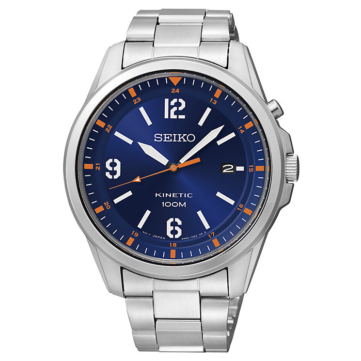 Seiko Men's Blue Dial & Stainless Steel Bracelet Watch - Product number 2969351