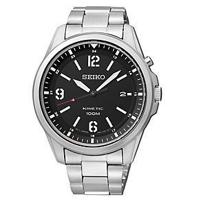 Seiko Men's Black Dial & Stainless Steel Bracelet Watch - Product number 2969564