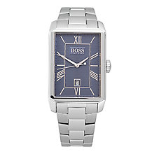 Hugo Boss men's rectangular stainless steel bracelet watch - Product number 2972794
