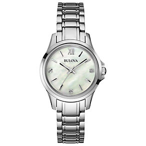Buolva Ladies' Mother of Pearl & Diamond Bracelet Watch - Product number 2974304