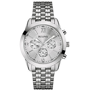Bulova Men's Stainless Steel Bracelet Strap Watch - Product number 2974312