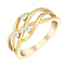 9ct Yellow Gold Interwoven Diamond Eternity Ring - Product number 2981807
