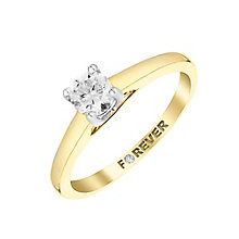 The Forever Diamond 9ct Yellow Gold Diamond Solitaire Ring - Product number 2985691
