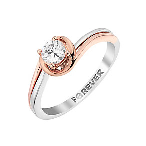 The Forever Diamond Palladium & Rose Gold Diamond Ring - Product number 2987775