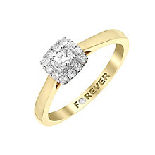 The Forever Diamond 18ct Yellow Gold Diamond Halo Ring - Product number 2989190