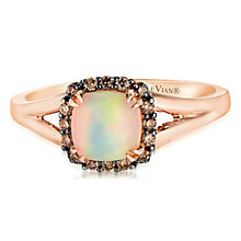 14ct Strawberry Gold Chocolate Opal & Chocolate Diamond Ring - Product number 2990458