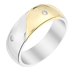 Perfect Fit Men's 9ct Two Colour Gold Diamond Wedding Ring - Product number 2991829
