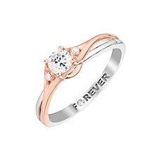 The Forever Diamond 18ct White & Rose Gold Diamond Ring - Product number 2992698