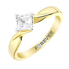 The Forever Diamond 18ct Yellow Gold Square Diamond Ring - Product number 2995131