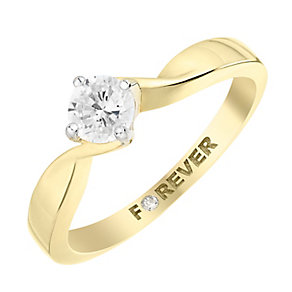 The Forever Diamond 18ct Yellow Gold Round Diamond Ring - Product number 2995468