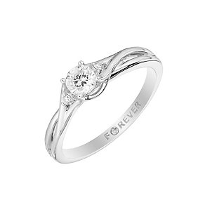 The Forever Diamond Platinum  Twist Diamond Ring - Product number 2995913