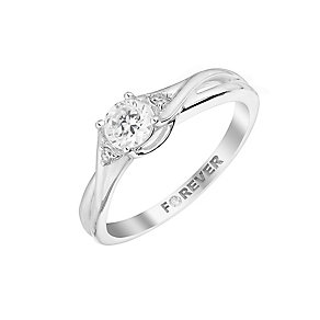 The Forever Diamond Platinum Twist Diamond Ring - Product number 2998688
