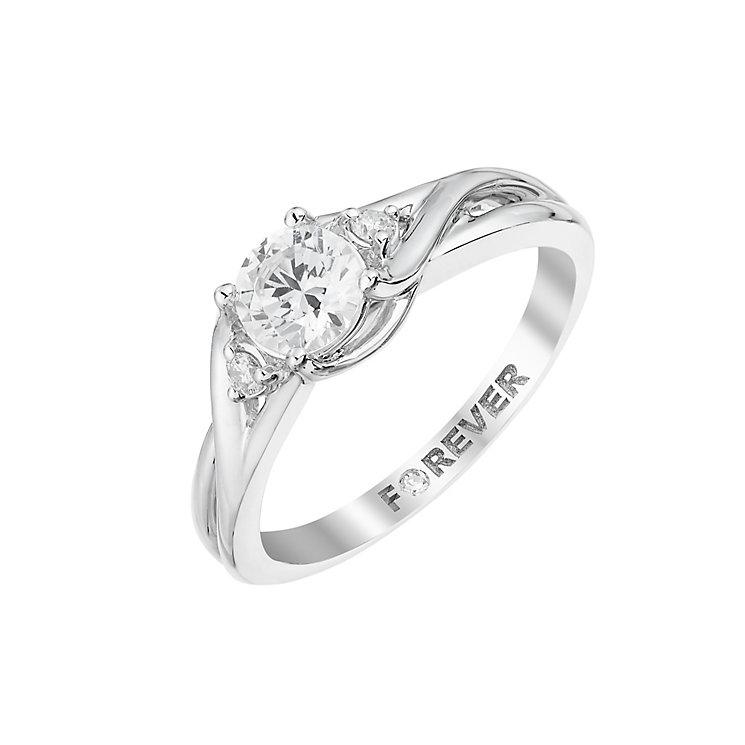 The Forever Diamond Platinum  Twist Diamond Ring - Product number 2998971