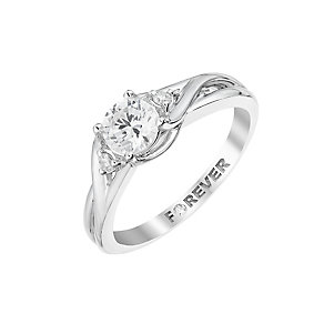 The Forever Diamond Platinum  Twist Diamond Ring - Product number 2998971