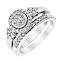 Perfect Fit 18ct White Gold 1/2 Carat Diamond Bridal Set - Product number 3001431