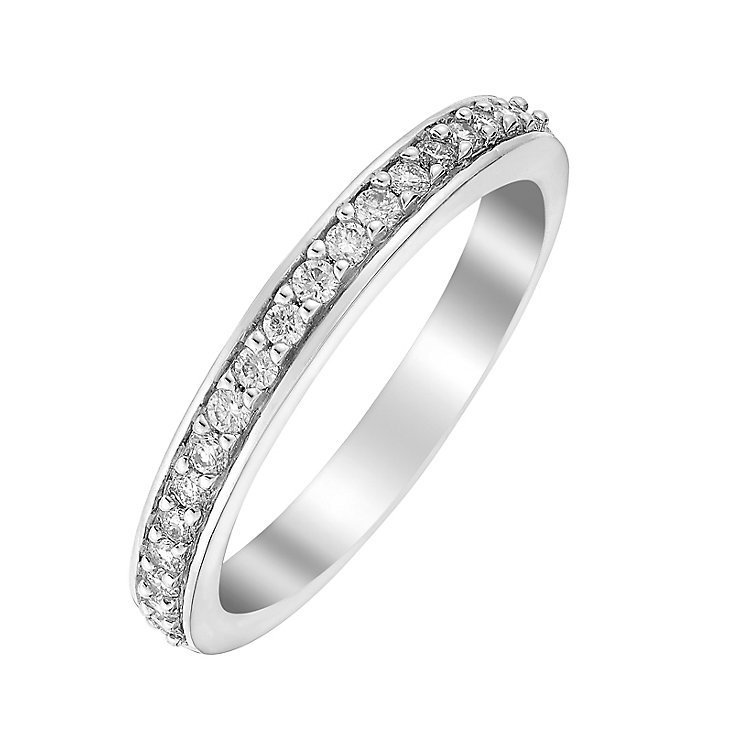 Perfect Fit 18ct White Gold1/5 Carat Diamond Eternity Ring - Product number 3002470