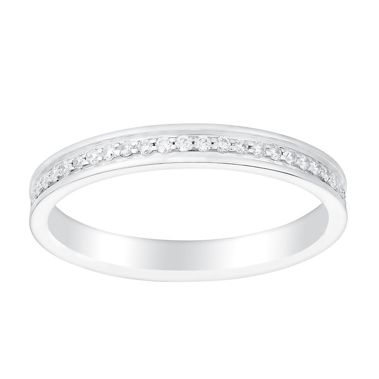 Perfect Fit 18ct White Gold 1/5 Carat Diamond Eternity Ring - Product number 3002896
