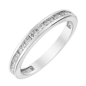 Perfect Fit 18ct White Gold 1/5 Carat Diamond Eternity Ring - Product number 3003078