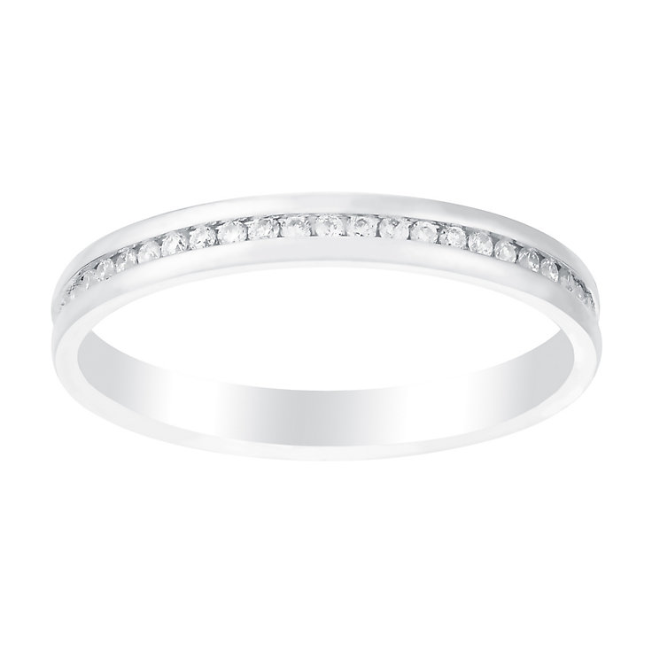 Perfect Fit 18ct White Gold 1/5 Carat Diamond Eternity Ring - Product number 3003566