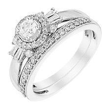 Perfect Fit 18ct White Gold 1/2 Carat Diamond Bridal Set - Product number 3006638