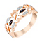 Open Hearts By Jane Seymour 9ct Rose Gold & Diamond Ring - Product number 3006883