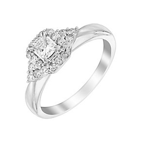9ct White Gold 2/5 Carat Halo Diamond Solitaire - Product number 3017729