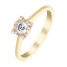 9ct Yellow Gold 1/5 Carat  Illusion Diamond Solitaire Ring - Product number 3020665
