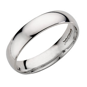 9ct White Gold Wedding 5mm Ring - Product number 3020827