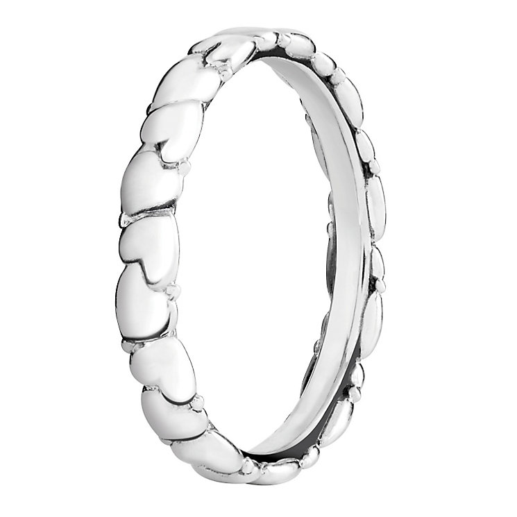 Chamilia Silver Everlasting Heart Stacking Ring Small - Product number 3026450