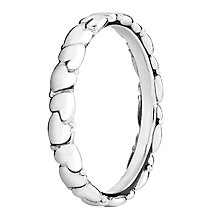 Chamilia Silver Everlasting Heart Stacking Ring Medium - Product number 3026469