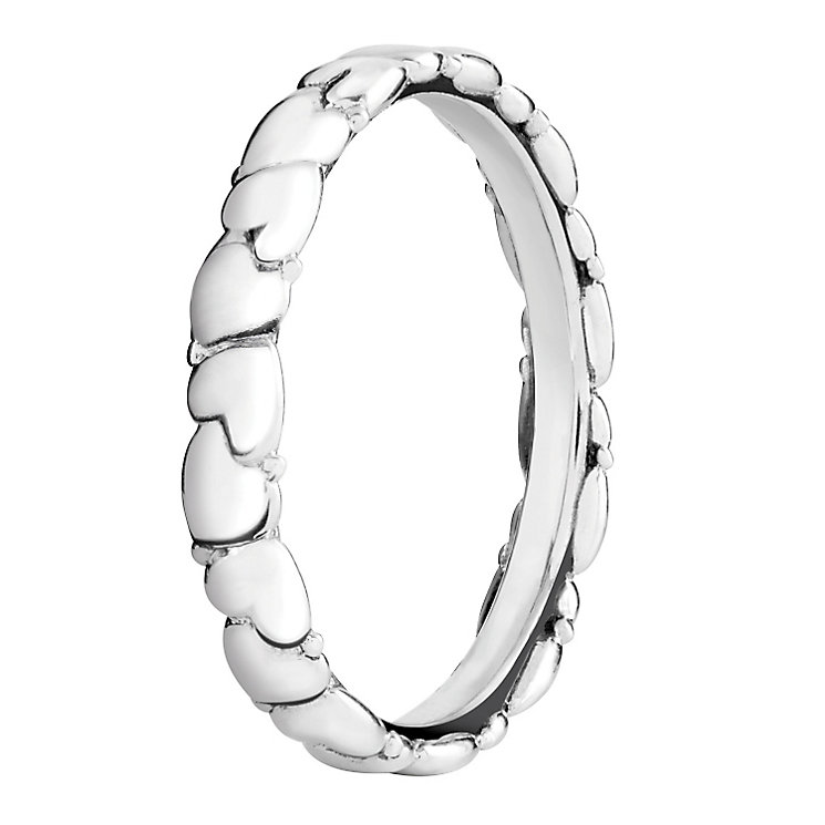 Chamilia Silver Everlasting Heart Stacking Ring Large - Product number 3026477