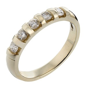 9ct Gold 1/4 Carat Diamond Ring