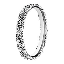 Chamilia Silver Harmony Floral Stacking Ring Small - Product number 3027023