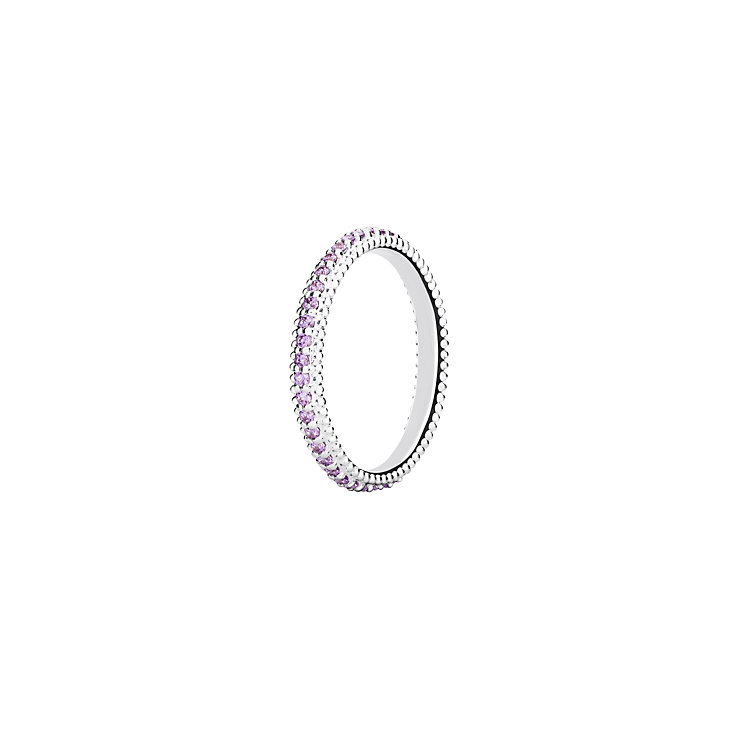 Chamilia Eternity purple zirconia ring medium - Product number 3028577