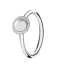 Chamilia Silver Wisdom Swarovski Pearl Stacking Ring Small - Product number 3029476