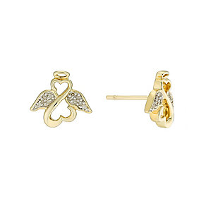 Open Hearts Angels By Jane Seymour Gold Diamond Earrings - Product number 3029654