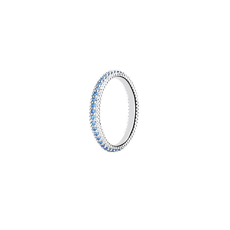 Chamilia Eternity sterling silver blue zirconia ring medium - Product number 3029662