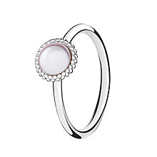 Chamilia Silver Wisdom Swarovski Pearl Stacking Ring Medium - Product number 3029689