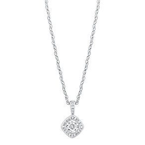 Diamonds In Rhythm Illusion Set Diamond Square Pendant - Product number 3030237