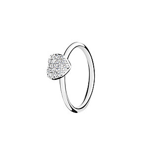 Chamilia Affection white zirconia ring size P - Product number 3030245