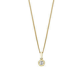 The Forever Diamond 9ct Yellow Gold Illusion Diamond Pendant - Product number 3030261