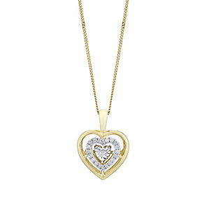 Diamonds In Rhythm 9ct Yellow Gold Diamond Heart Pendant - Product number 3030296