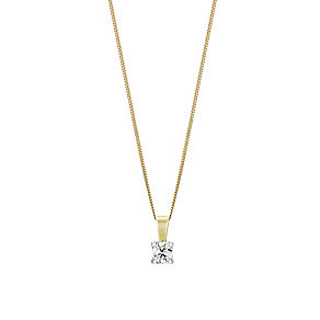 The Forever Diamond Two Colour Gold Diamond Pendant - Product number 3030318