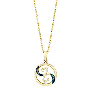 Open Hearts Waves By Jane Seymour Gold & Diamond Pendant - Product number 3030466