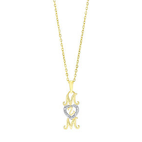 Open Hearts Family By Jane Seymour Gold Diamond Mum Pendant - Product number 3030539