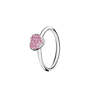 Chamilia Affection pink zirconia ring size P - Product number 3030563