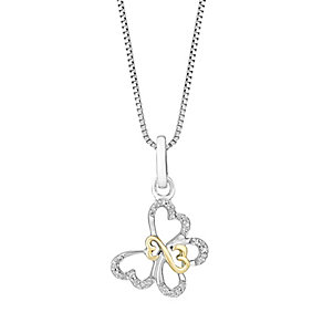 Open Hearts By Jane Seymour Diamond Butterfly Pendant - Product number 3030571