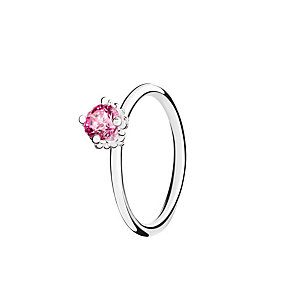 Chamilia Diva Solitaire pink zirconia ring size P - Product number 3030873