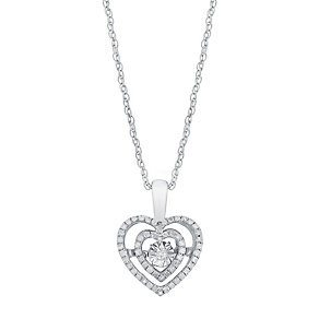 Diamonds In Rhythm Silver 1/4 Carat Diamond Heart Pendant - Product number 3031039